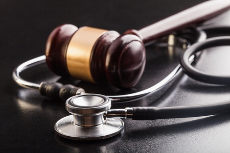 Gavel and stethoscope.