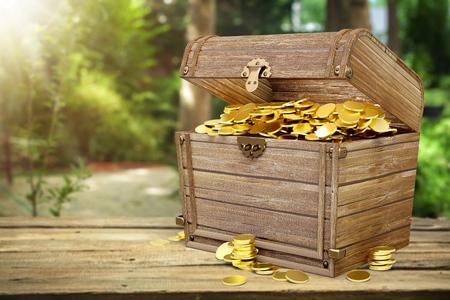 Treasure chest. Banco de Imagens