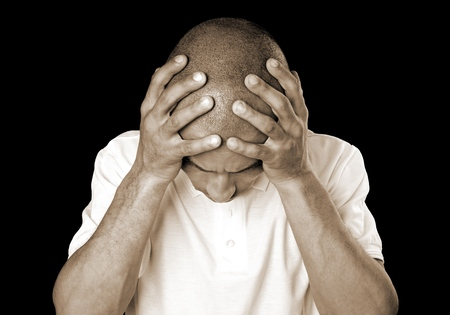 頭痛。 写真素材 - 80086431