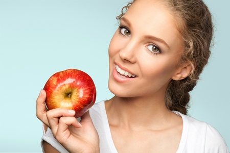 only adult: Apple. Stock Photo