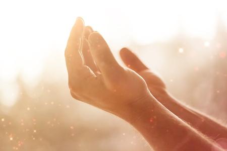 Ręce ludzkie otwarte dłoni.