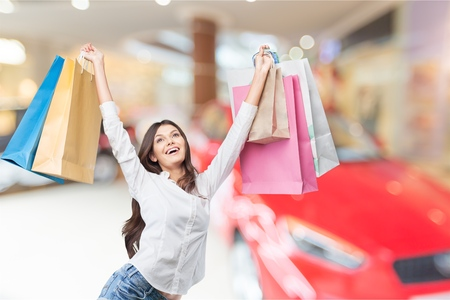 Woman shoping. Stock Photo