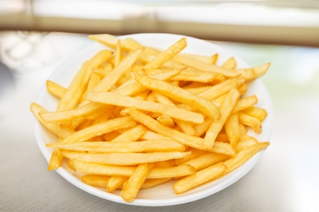 prepared dish: French fries. Stock Photo