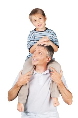 familia abrazo: Padre. Foto de archivo
