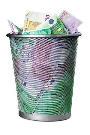 Europese Unie valuta. Stockfoto
