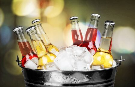 colored bottle: Drink. Stock Photo