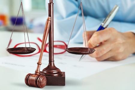 legislator: Lawyer in the office. Stock Photo