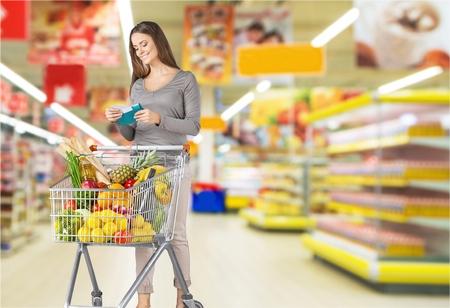expiration date: Supermarket. Stock Photo