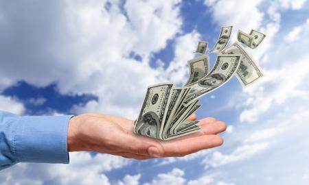 Falling Money $100 Bills (XXXL)