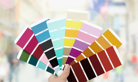 Color swatch. Stock Photo
