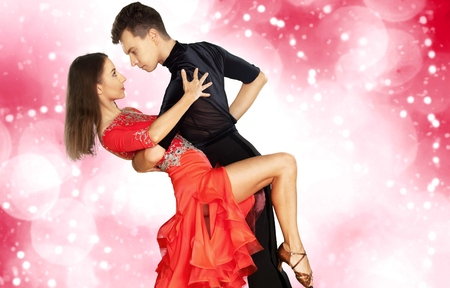 Salsa dancing. Stock Photo