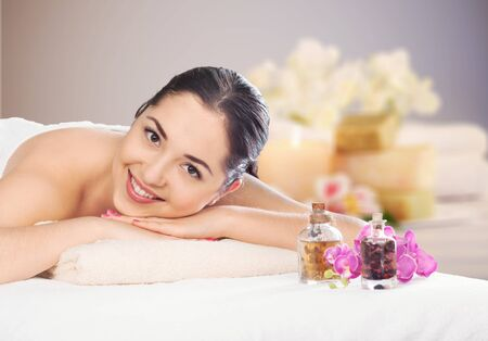 Woman spa therapy. Stock Photo