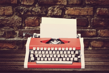 Antique typewriter.