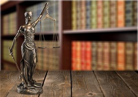 正義の女神像。 写真素材
