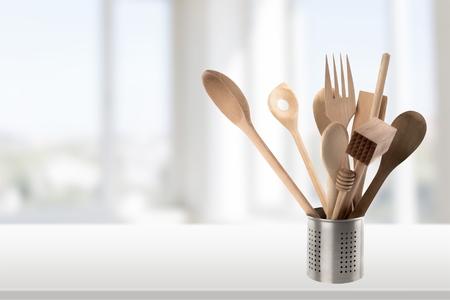 Keukengerei op wit