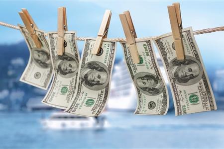 Blanchiment d'argent. Banque d'images - 83158275