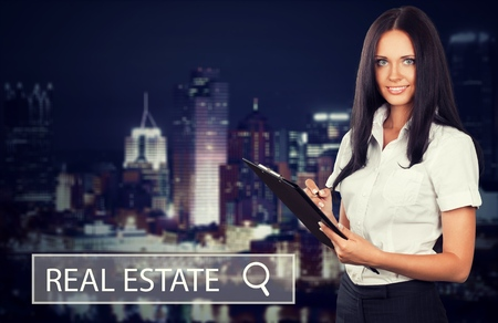 Woman real estate agent.