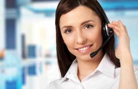 Customer service representative. photo