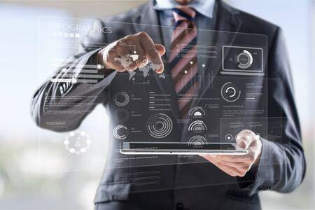 Business illustration concept. Stock Photo