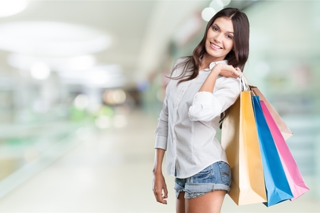 lady with Shopping bags photo