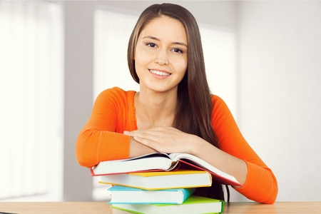 southern european descent: High school student. Stock Photo