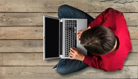 html: Laptop. Stock Photo