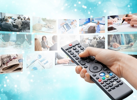Television broadcasting. photo