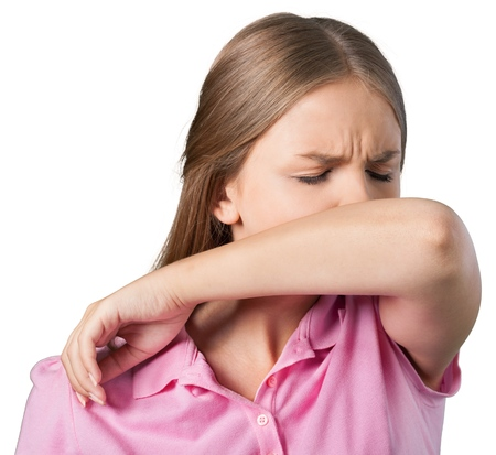 Coughing. Stock Photo