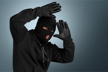 Burglar. Banque d'images
