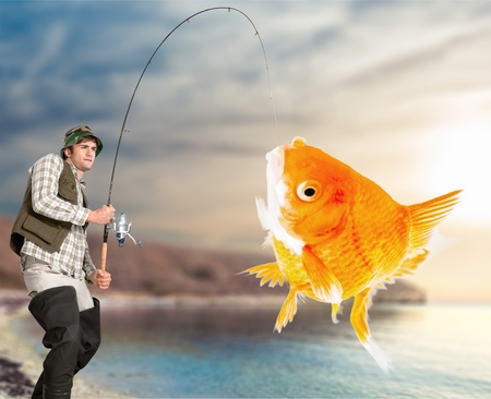 Fishing. Banque d'images