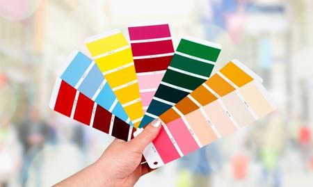 Color swatch. Standard-Bild