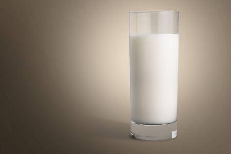 Glass of milk Banque d'images
