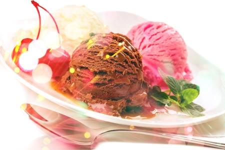 Ice Cream Scoops 版權商用圖片