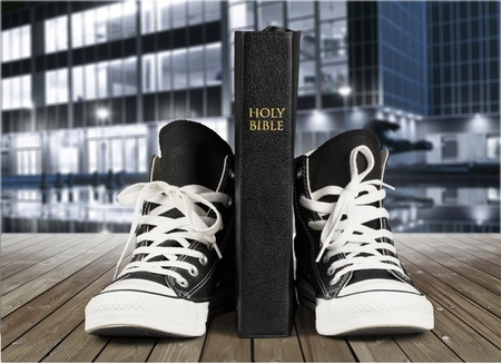 Bible and Tennis Shoes