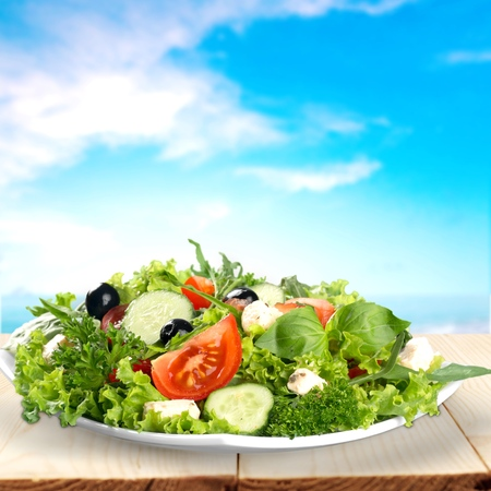 Fresh mixed vegetables salad in a bowl