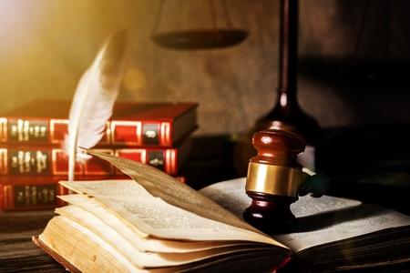 Judges Desk Banque d'images