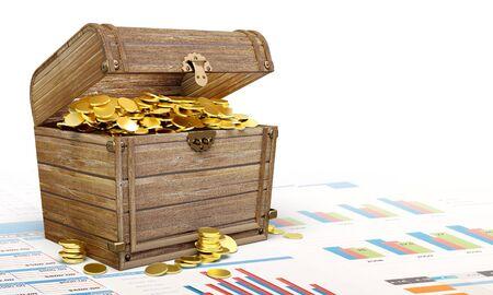 Treasure chest. Standard-Bild
