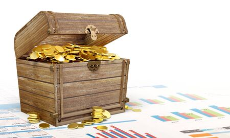 Treasure chest. Stock Photo