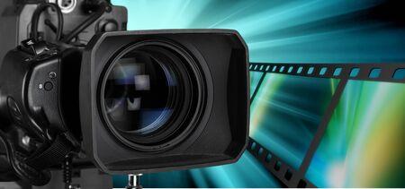 가정용 비디오 카메라.