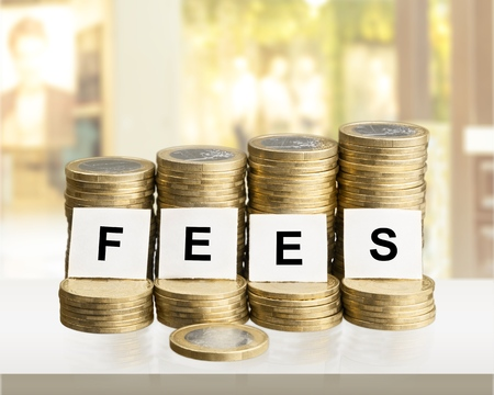 Fees with stacked coins