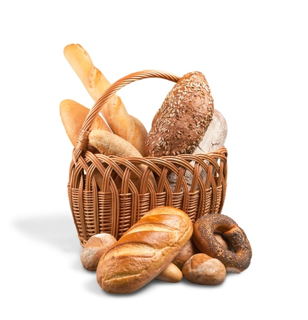 Assorted Breads in a Basket