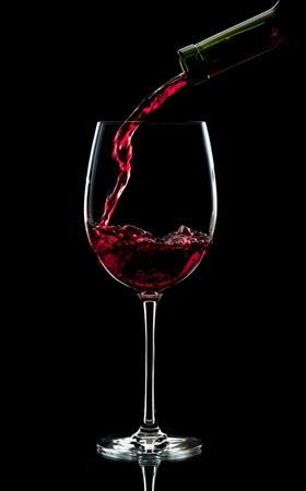 Pouring Red Wine into a Glass 写真素材 - 90548080
