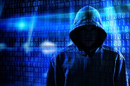 Hacker and binary code