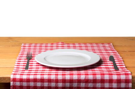 Table Setting Isolated 写真素材