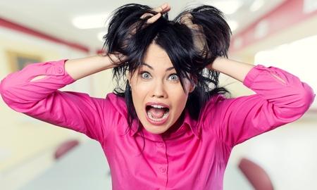 Bad hair day! Foto de archivo