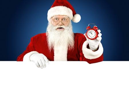Blank sign - Christmas time!!! Stock Photo