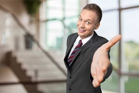 Pushy Salesman Stock Photo