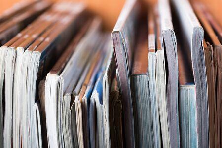 stack of magazines Archivio Fotografico