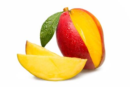 Wedged mango