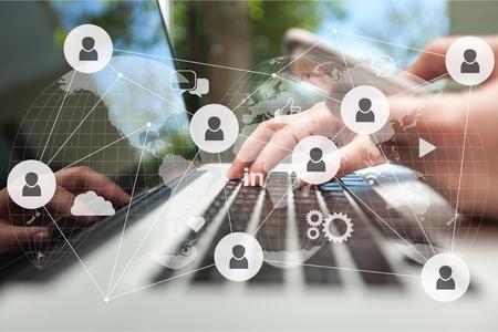 Network digital technology concept Banque d'images